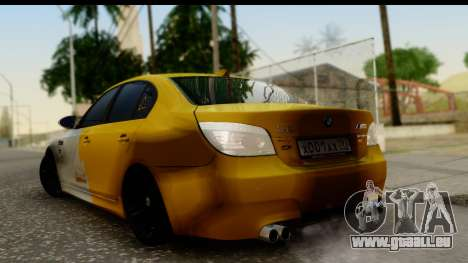 BMW M5 Gold für GTA San Andreas linke Ansicht