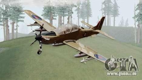 Embraer A-29B Super Tucano RAF Desert pour GTA San Andreas