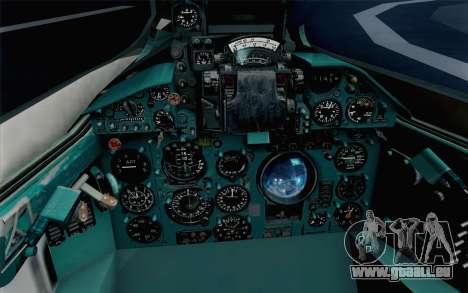 MIG-21 Fishbed C Vietnam Air Force pour GTA San Andreas vue arrière