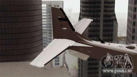Embraer A-29B Super Tucano Low Visibility für GTA San Andreas zurück linke Ansicht