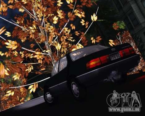 Toyota Celsior für GTA San Andreas Rückansicht