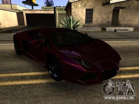 Lamborghini Aventador Tron pour GTA San Andreas vue arrière