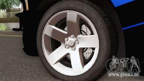 Dodge Charger 2013 LSPD für GTA San Andreas zurück linke Ansicht