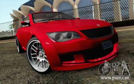 GTA 5 Ubermacht Sentinel Coupe IVF pour GTA San Andreas vue arrière