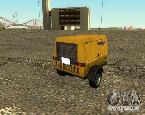 Multi Utility Trailer 3 in 1 für GTA San Andreas linke Ansicht