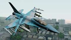 F-16C Fighting Falcon NSAWC Blue pour GTA San Andreas