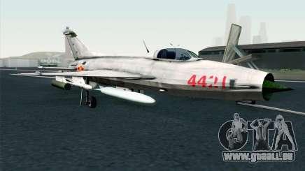 MIG-21 Fishbed C Vietnam Air Force für GTA San Andreas