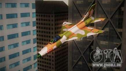 MIG 21 Russian Camo Force pour GTA San Andreas