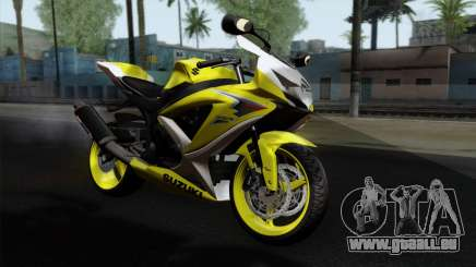 Suzuki GSX-R 2015 Yellow & White pour GTA San Andreas