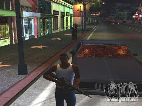 Du sang sur les vitres de la voiture pour GTA San Andreas