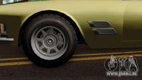 GTA 5 Lampadati Casco pour GTA San Andreas sur la vue arrière gauche