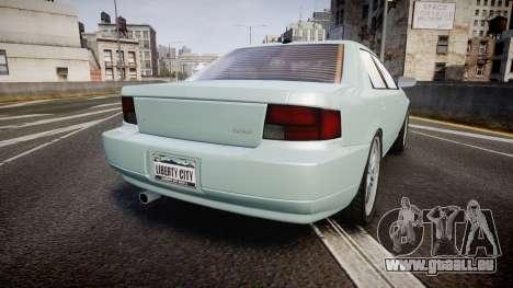 Max Payne 3 Iemanja LX pour GTA 4 Vue arrière de la gauche