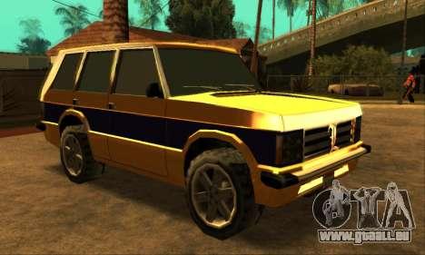 Luni Huntley pour GTA San Andreas sur la vue arrière gauche