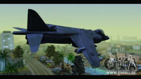 AV-8B Harrier Estovakian Air Force für GTA San Andreas linke Ansicht