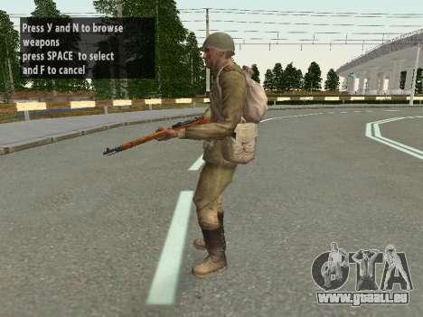 Les soldats de l'armée rouge dans le casque pour GTA San Andreas huitième écran