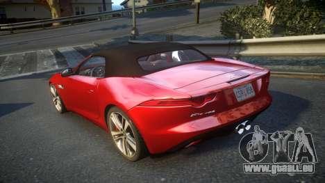 Jaguar F-Type v1.6 Release [EPM] pour GTA 4 Vue arrière de la gauche