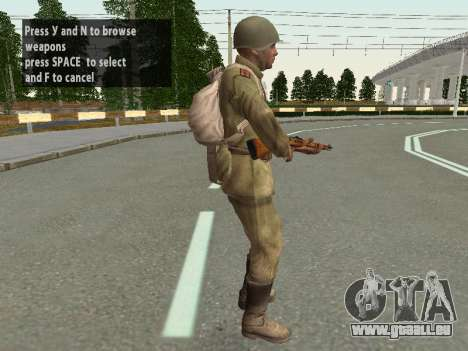 Les soldats de l'armée rouge dans le casque pour GTA San Andreas septième écran