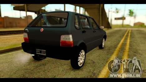 Fiat Uno Fire Mille für GTA San Andreas linke Ansicht