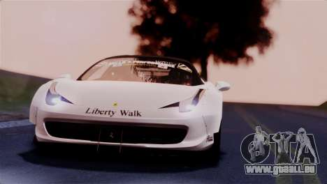 Ferrari 458 Italy Liberty Walk LB Performance für GTA San Andreas