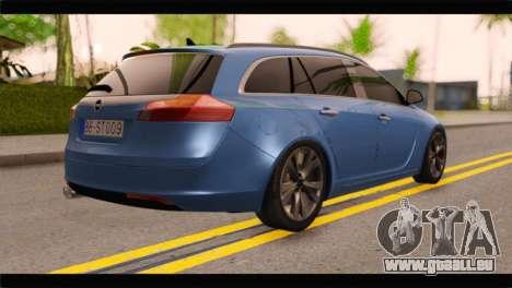 Opel Insignia Wagon pour GTA San Andreas laissé vue