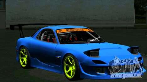 Mazda RX-7 FD3S Vertex pour GTA San Andreas laissé vue