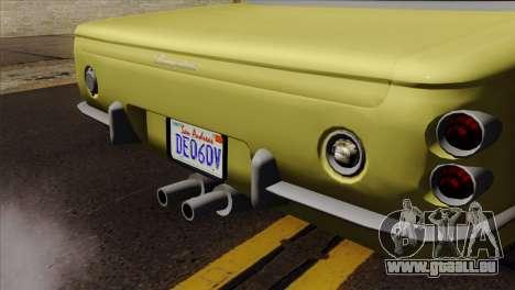 GTA 5 Lampadati Casco pour GTA San Andreas vue arrière