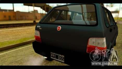 Fiat Uno Fire Mille für GTA San Andreas rechten Ansicht