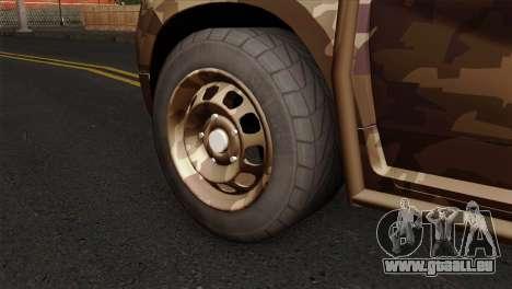 Dacia Duster Army Skin 4 für GTA San Andreas zurück linke Ansicht