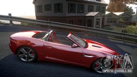 Jaguar F-Type v1.6 Release [EPM] pour GTA 4 Vue arrière