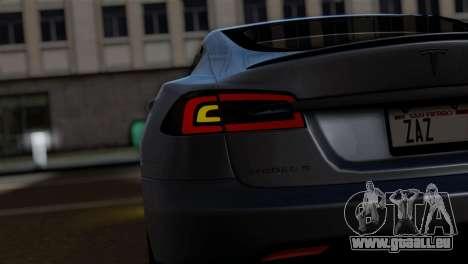 Tesla Model S 2014 pour GTA San Andreas vue de droite