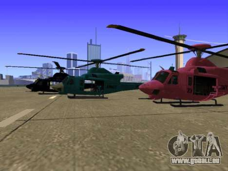 GTA 5 Valkyrie für GTA San Andreas Innen