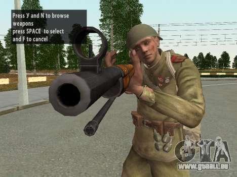 Les soldats de l'armée rouge dans le casque pour GTA San Andreas dixième écran
