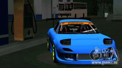 Mazda RX-7 FD3S Vertex pour GTA San Andreas sur la vue arrière gauche