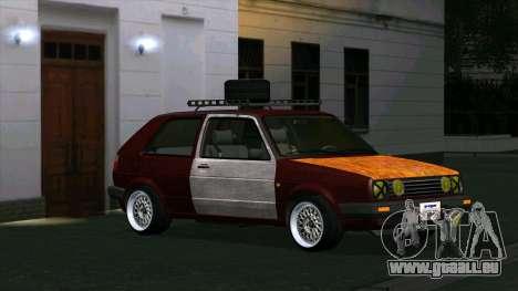 Volkswagen Golf II Rat Style pour GTA San Andreas laissé vue