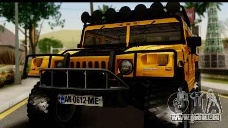 Hummer H1 6-Wheel für GTA San Andreas zurück linke Ansicht