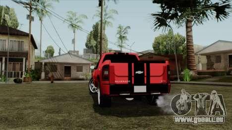 Chevrolet Silverado Tuning für GTA San Andreas zurück linke Ansicht