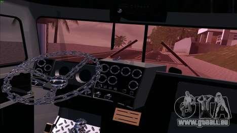 Mack RS700 Custom pour GTA San Andreas vue intérieure