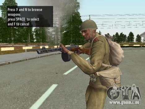 Les soldats de l'armée rouge dans le casque pour GTA San Andreas quatrième écran