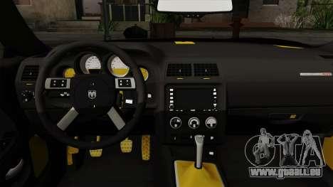 Dodge Challenger Yellow Jacket für GTA San Andreas rechten Ansicht
