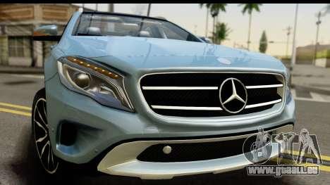 Mercedes-Benz GLA220 2014 für GTA San Andreas zurück linke Ansicht