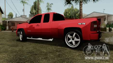 Chevrolet Silverado Tuning pour GTA San Andreas laissé vue