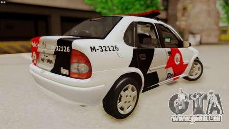 Chevrolet Corsa 2000 PMESP für GTA San Andreas zurück linke Ansicht
