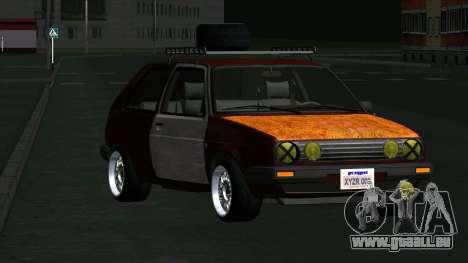 Volkswagen Golf II Rat Style pour GTA San Andreas vue arrière