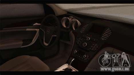 Opel Insignia Wagon pour GTA San Andreas vue de droite
