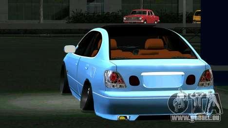 Toyota Aristo pour GTA San Andreas sur la vue arrière gauche
