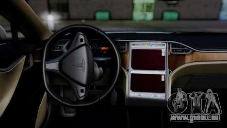 Tesla Model S 2014 für GTA San Andreas zurück linke Ansicht