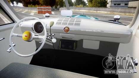 Ford Custom Deluxe Fordor 1949 New York Police für GTA 4 Rückansicht