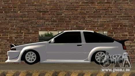 Toyota AE86 pour GTA San Andreas laissé vue