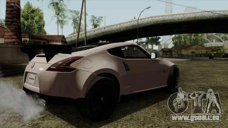 Nissan 370Z Nismo pour GTA San Andreas laissé vue