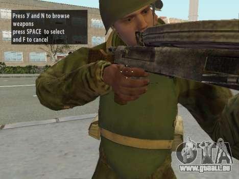 Les soldats de l'armée rouge dans l'armure pour GTA San Andreas septième écran
